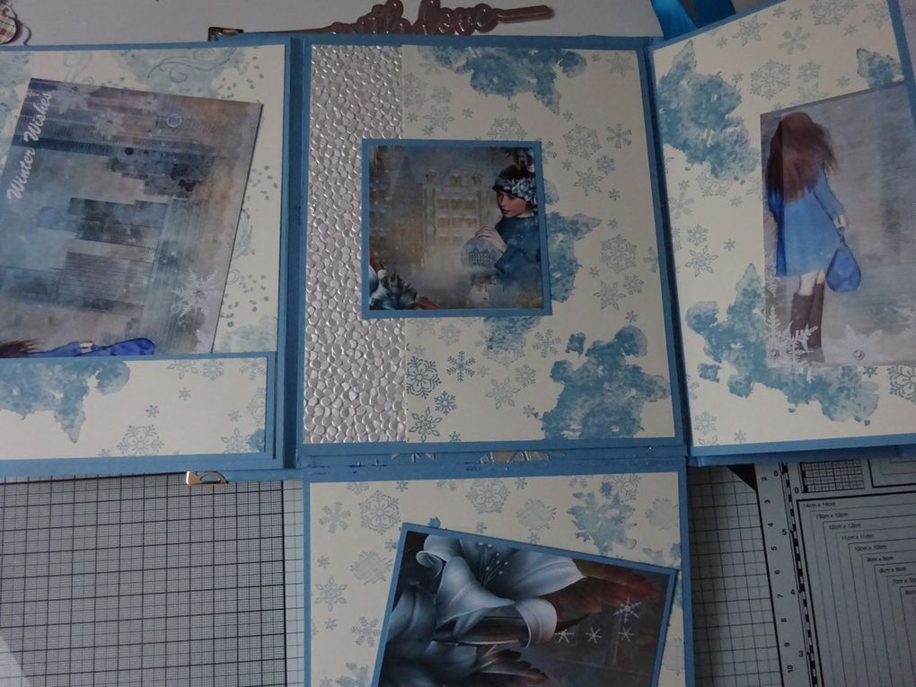[MINI ALBUM] Craftbox Collection Winter Town: couverture et page #1
