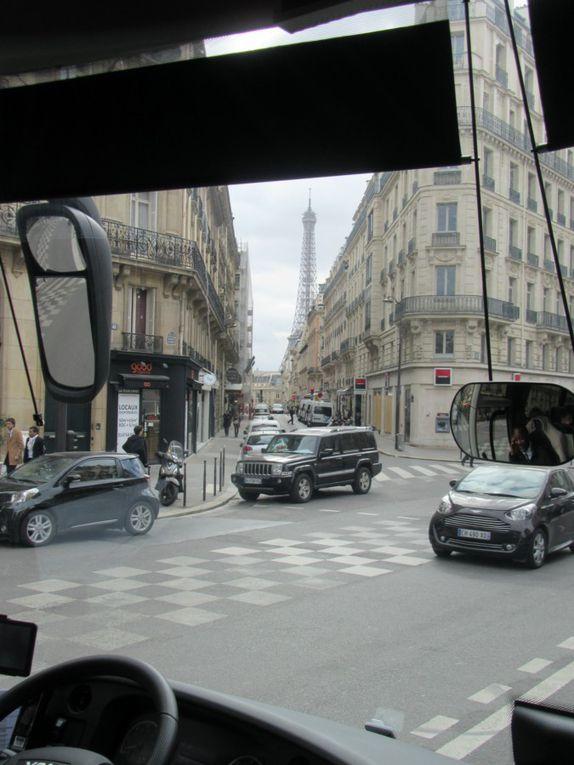 Concorde, Galeries lafayette, Tour Eiffel , Quartier Latin .......