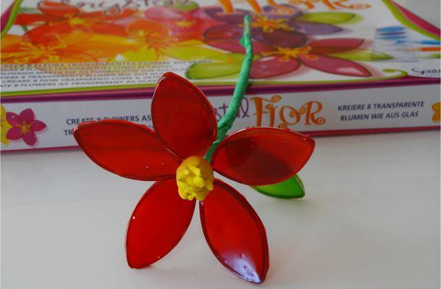 Les enfants fabriquent de jolies fleurs avec Crystal Flor