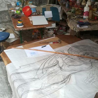 Le travail de la courbe en art