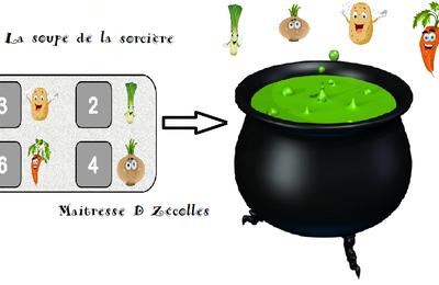 La soupe de la sorcière : Ateliers de manipulation.