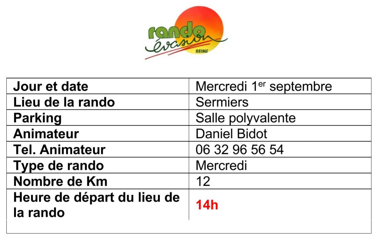 Rando d'été et de rentrée : programme du 30 août au 5 septembre