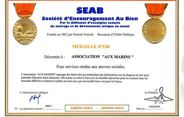 """L'association """"Aux Marins"""" récompensée"""