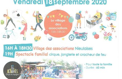 FORUM  DES  ASSOCIATIONS A  NIEUL LES SAINTES