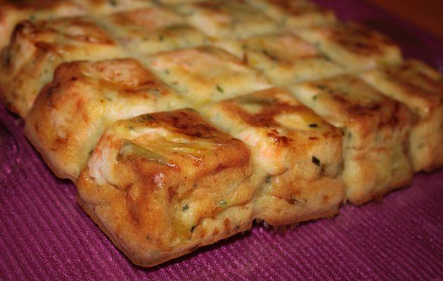 Gâteau Poireau Saumon Comté