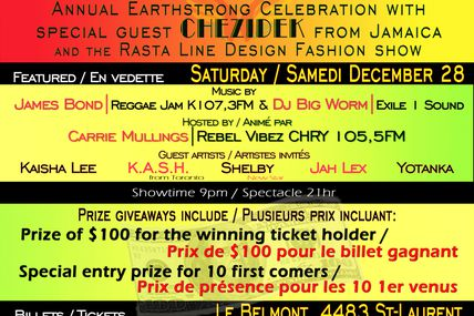 Chezidek in Canada for Prophecy Izis & Emperor SWL 2013 Earthstrong Celebration