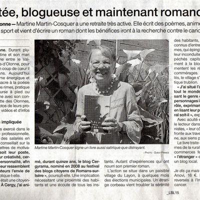 Un article m'est consacré dans Ouest France