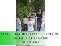 CENTRE ANATOLE FRANCE-PRIMAIRE-COURSE D'ORIENTATION-Juillet 2020