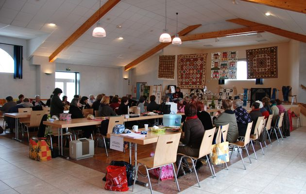 journée de l'amitié France Patchwork / a quilting meeting (friendship day) with the ladies of the french quilt guild