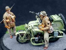 Gnome & Rhone AX2 RM w/side car Bernardet, type dragons portés 1938. 1/35. Best value models.