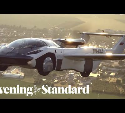"""Flying sportscar's first flight, turning """"science fiction into reality"""