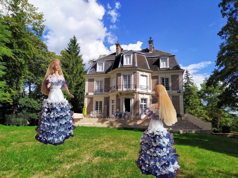 tuto gratuit Barbie  : Barbie robe étoilée