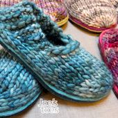 How to make Joes Toes Crossover Knitted Slipper