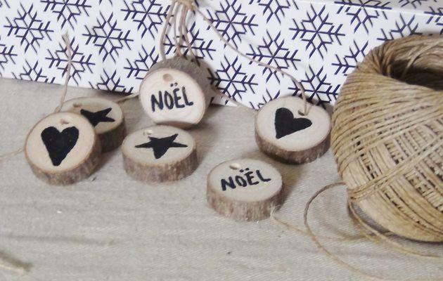mini rondelles de bois : déco de Noël