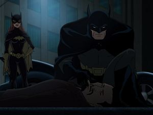 """Hey Batman, maybe we should carry on investigating, you know, for justice and stuff and not get personal."" ""Hum, yeah... I'm just gonna beat the crap out of this guy who's just threatened you and whose bones I've just crushed with the batmobile, before I reanimated him artificially to now be able to destroy him again... for the sake of our investigation."""