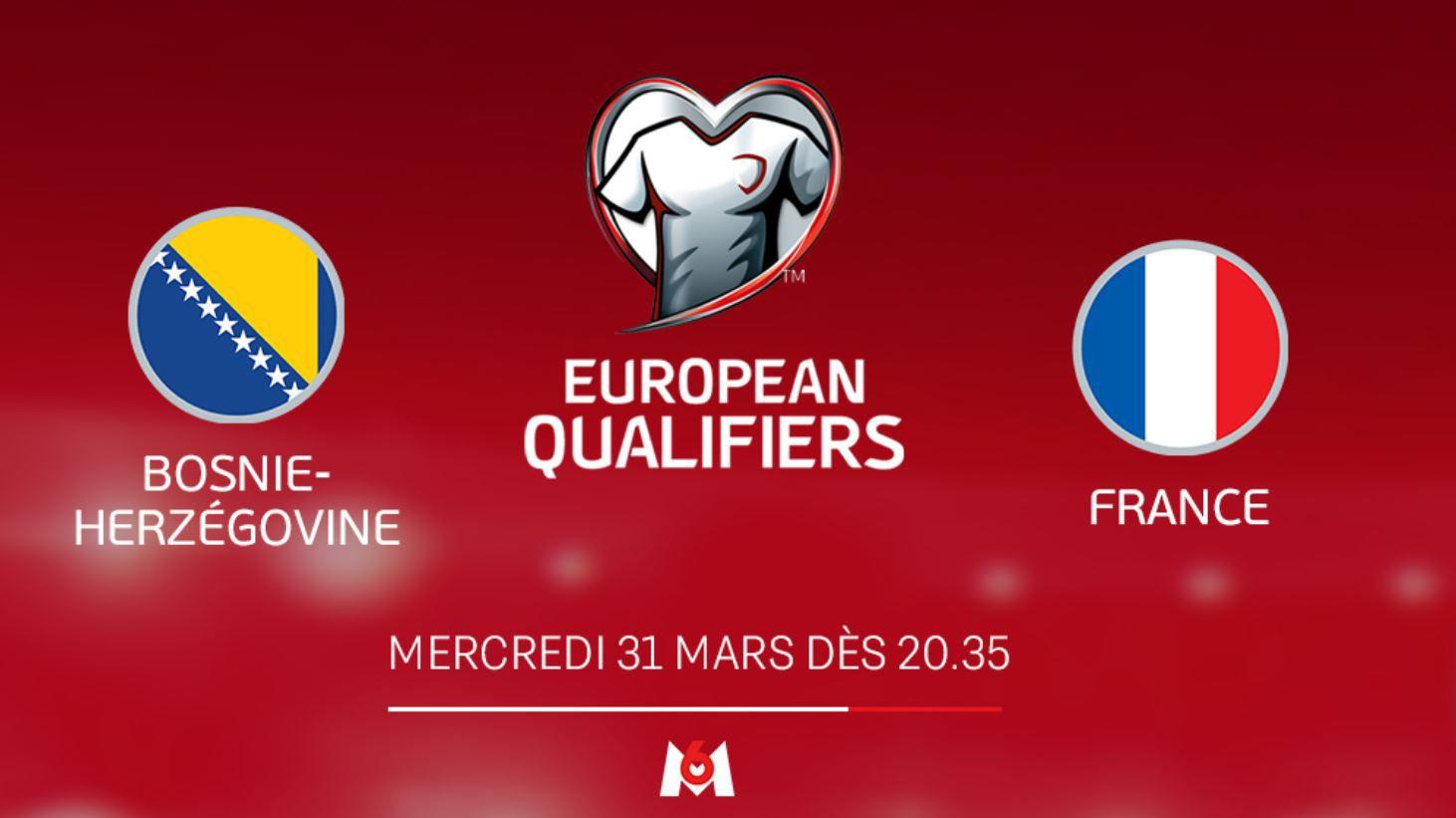 Bosnie-Herzégovine / France en direct mercredi sur M6
