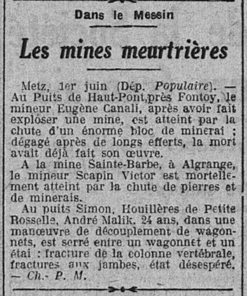 Le Populaire du 2 juin 1929