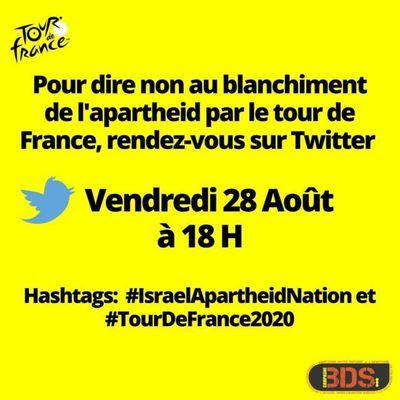 Appel à action: Participez à la tweetstorm #IsraelApartheidNation le 28 août prochain à 18H