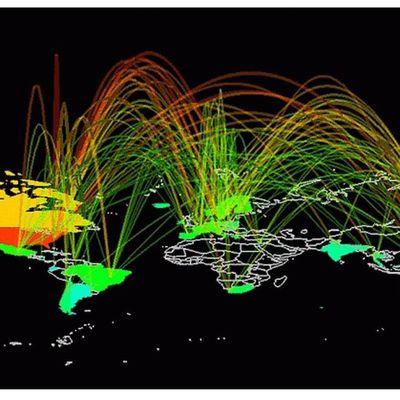 Le cyberespace, entre réseaux et territoires (infrastructures, acteurs, liberté ou contrôle des données…)