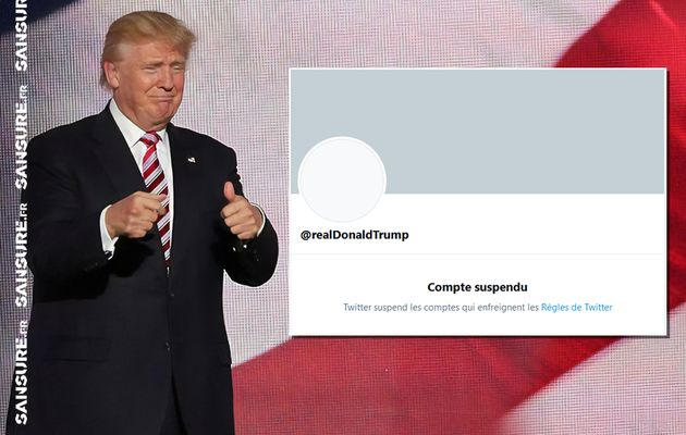 Donald Trump suspendu définitivement de Twitter ! #Trump