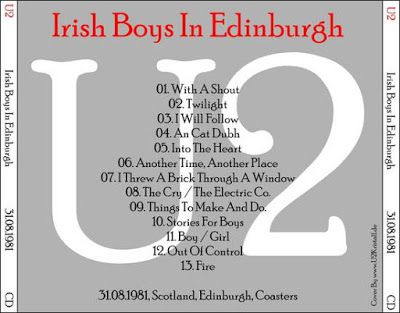 U2 -October Tour -31/08/1981 -Edimbourg -Ecosse -Coasters