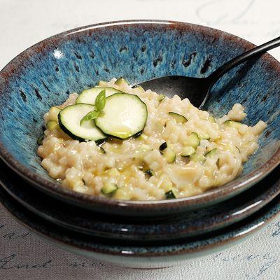 Fregola sarda (comme un risotto) à la courgette, parmesan et pecorino