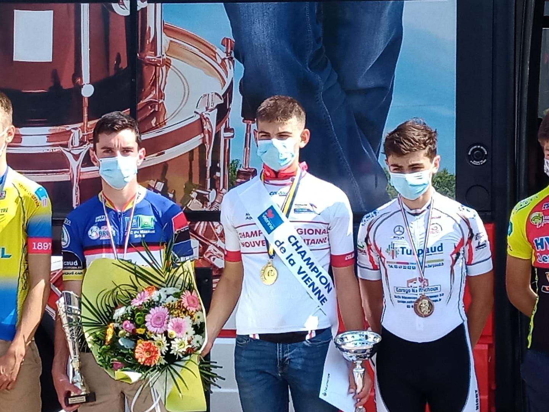 Romain Bréant, vice-champion Nouvelle Aquitaine du contre-la-montre cadets (Photo : Ch. Bréant)