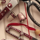 Decorar accesorios de costura. Tutorial