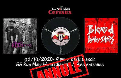 🎵 The Roostix + Blood Baby-Sitters  @ Rock Classic - 02/10/2020 - annulé