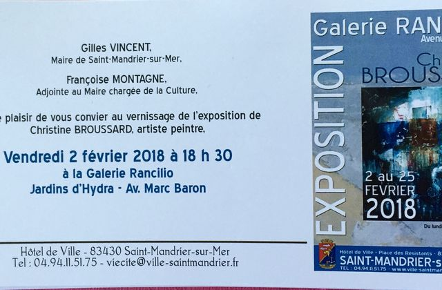 VERNISSAGE EXPO RANCILLO ST MANDRIER