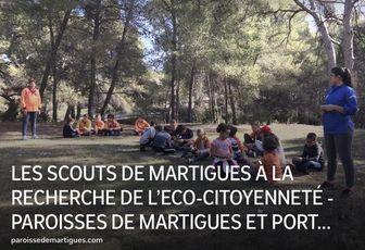 LES SCOUTS DE MARTIGUES À LA RECHERCHE DE L'ECO-CITOYENNETÉ