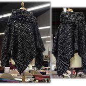 Poncho Carré avec Col - Tuto Couture DIY - Viny DIY, le blog de tutoriels couture et DIY.