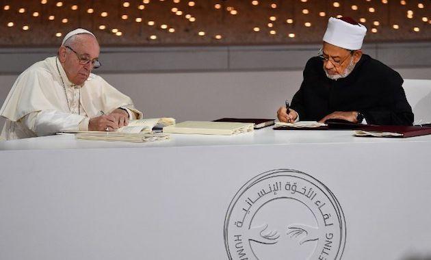 Document sur la fraternité humaine pour la paix mondiale et la coexistence commune