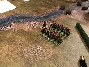 le flanc droit anglais est enfoncé, la cavalerie vient percuté la crème de la crème des troupes anglaises et cela n'est pas pour faire des gâteaux !
