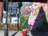 Les créatures de Cryote et Waxhead cohabitent paisiblement sur les murs de Montréal.