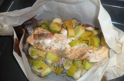 Testé le poisson en papillotes et c'est délicieux !
