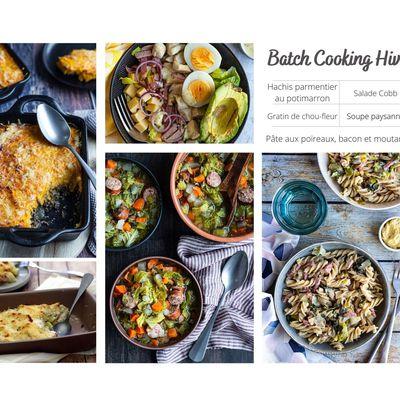 Batch Cooking équilibré (hiver)