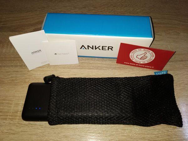 présentation de la batterie externe 20.000 mAh QuickCharge 3.0 Anker PowerCore Speed @ Tests et Bons Plans