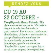 le carrefour des métiers de Bouche à Niort, nous y serons présents