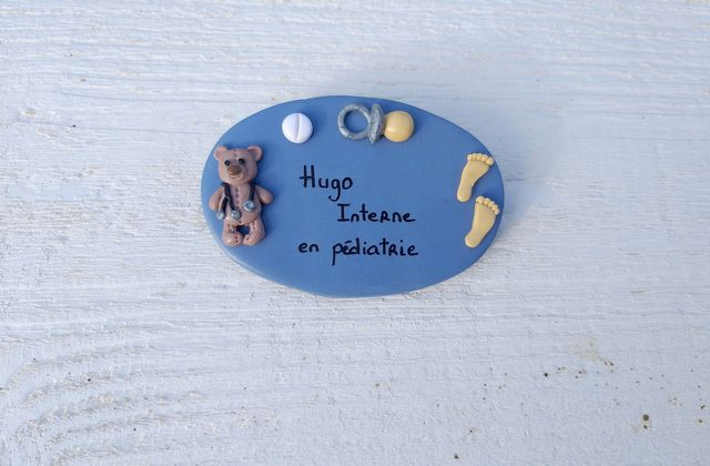 Badge pour Hugo, interne