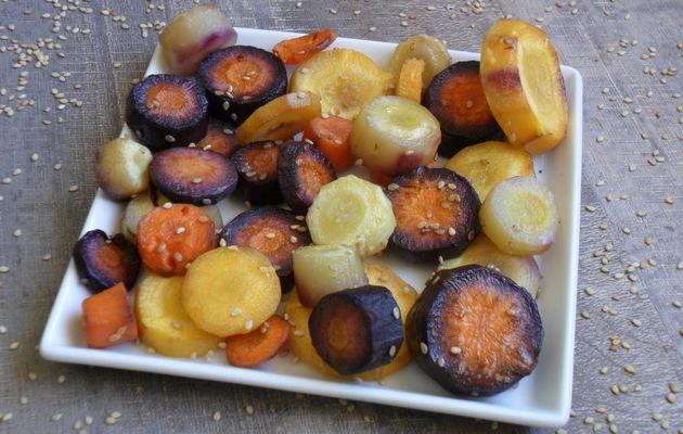 Carottes anciennes rôties au four (recette végétalienne)