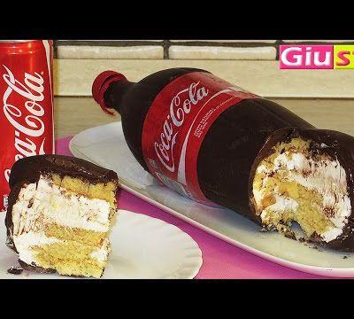 Un gâteau façon bouteille de COCA....