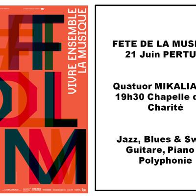 Quatuor MIKALIANGE fête la Musique 21 juin La Charité Pertuis à 19h30