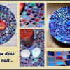 Mosaïque : Bleu indigo... en coupe pour captiver les yeux !