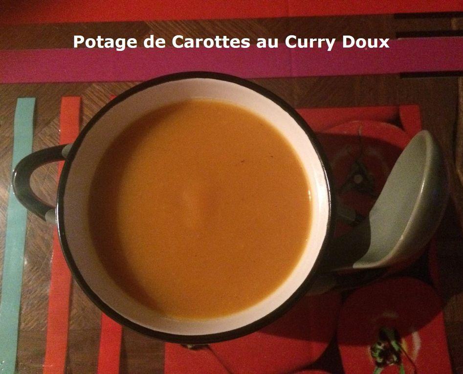 Potage de Carottes au Curry Doux