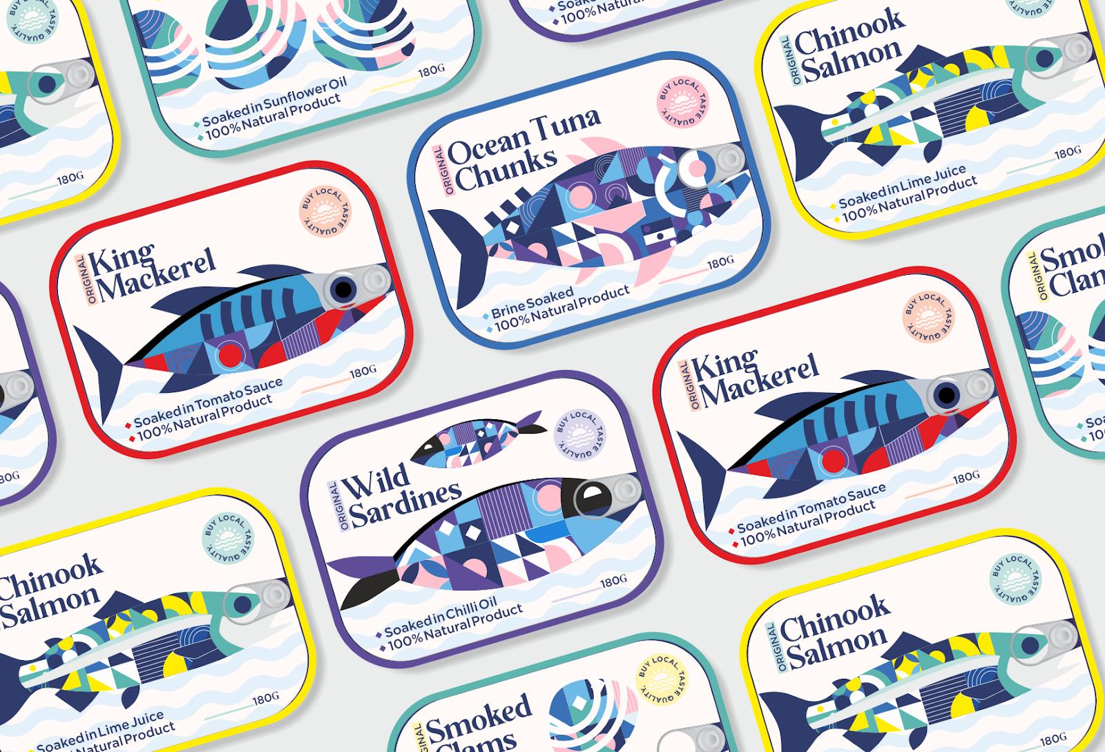 Conserves de poisson I Design (concept) : Linsanity Design, Inde (septembre 2020)