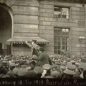 10 novembre 1918: le drapeau rouge de la révolution flotte sur Strasbourg