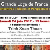 Science et Spiritualité, conférences publiques de Trinh Xuan Thuan à Paris le 24 juin 2017 et à Ronchin (Lille) le 27 juin 2017. - Bloc notes de Jean-Laurent sur les Spiritualités