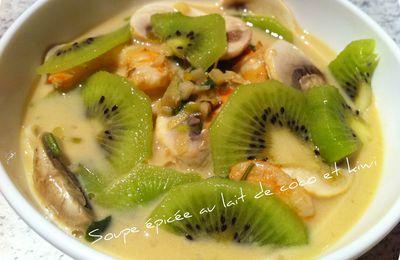 Soupe épicée au lait de coco et kiwi