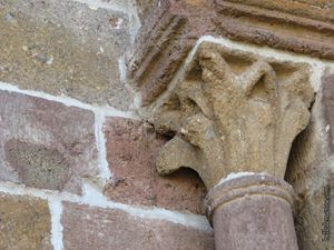 La façade nord de l'église